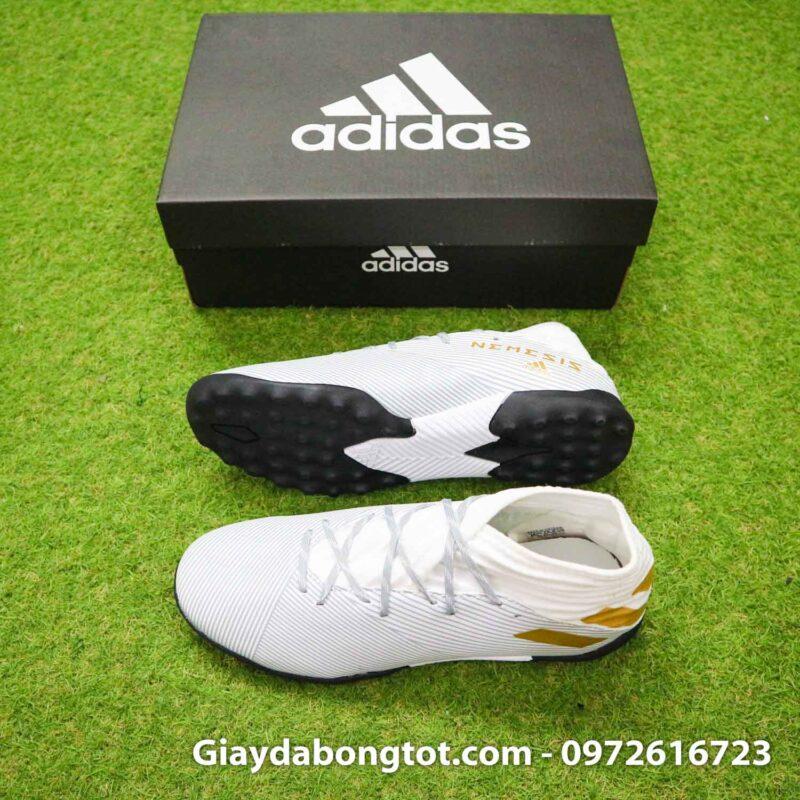 Giay Adidas Nemeziz 19.3 TF trang vach vang co cao (2)