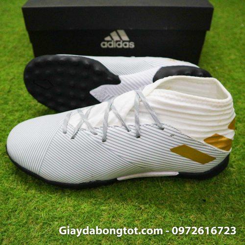 Giay Adidas Nemeziz 19.3 TF trang vach vang co cao (3)