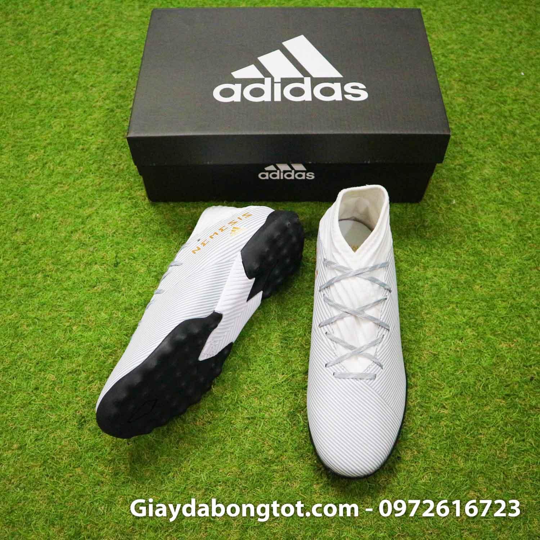 Giay Adidas Nemeziz 19.3 TF trang vach vang co cao (5)