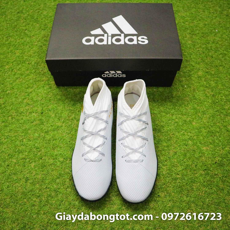 Giay Adidas Nemeziz 19.3 TF trang vach vang co cao (8)