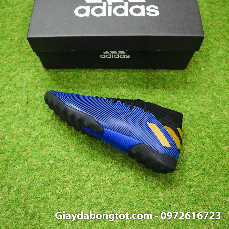 Giay Adidas Nemeziz 19.3 TF xanh dam vach vang co cao (10)