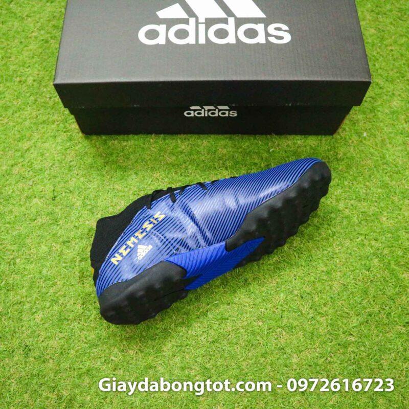 Giay Adidas Nemeziz 19.3 TF xanh dam vach vang co cao (11)
