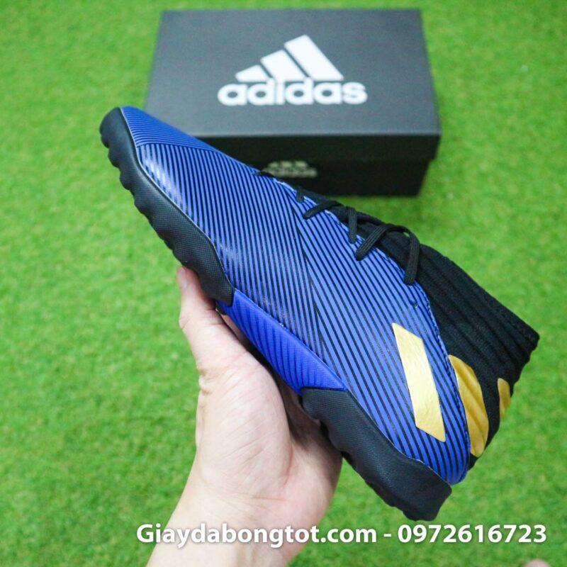 Giay Adidas Nemeziz 19.3 TF xanh dam vach vang co cao (12)