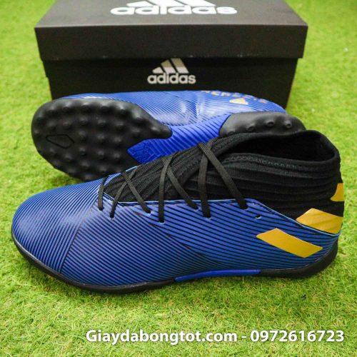 Giay Adidas Nemeziz 19.3 TF xanh dam vach vang co cao (3)