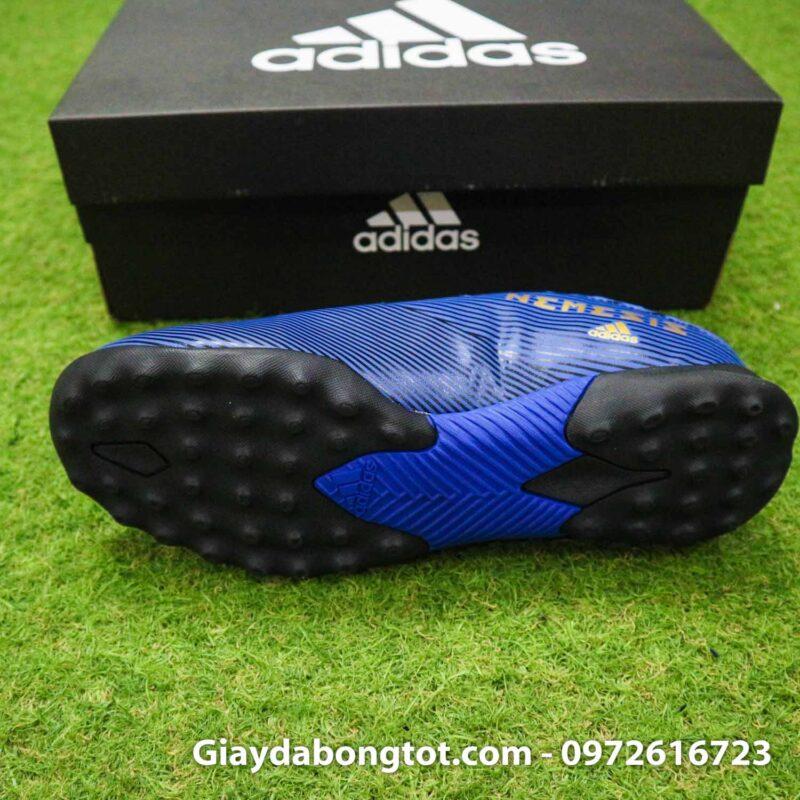 Giay Adidas Nemeziz 19.3 TF xanh dam vach vang co cao (4)