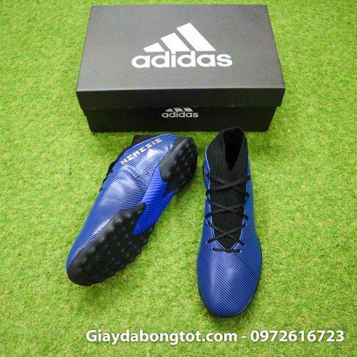 Giay Adidas Nemeziz 19.3 TF xanh dam vach vang co cao (5)