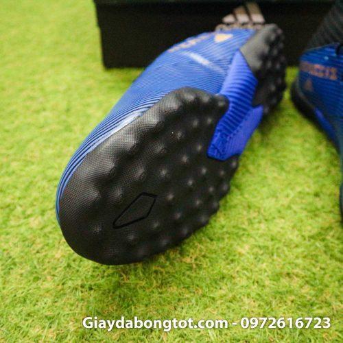 Giay Adidas Nemeziz 19.3 TF xanh dam vach vang co cao (6)