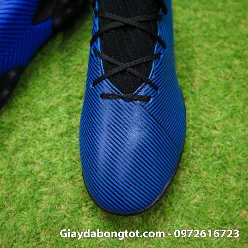 Giay Adidas Nemeziz 19.3 TF xanh dam vach vang co cao (7)
