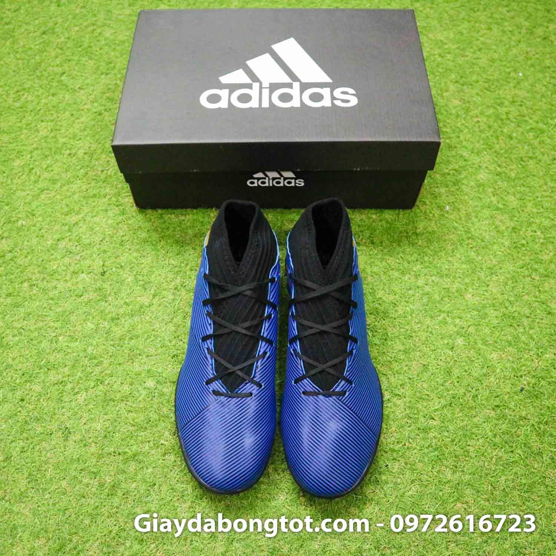 Giay Adidas Nemeziz 19.3 TF xanh dam vach vang co cao (8)