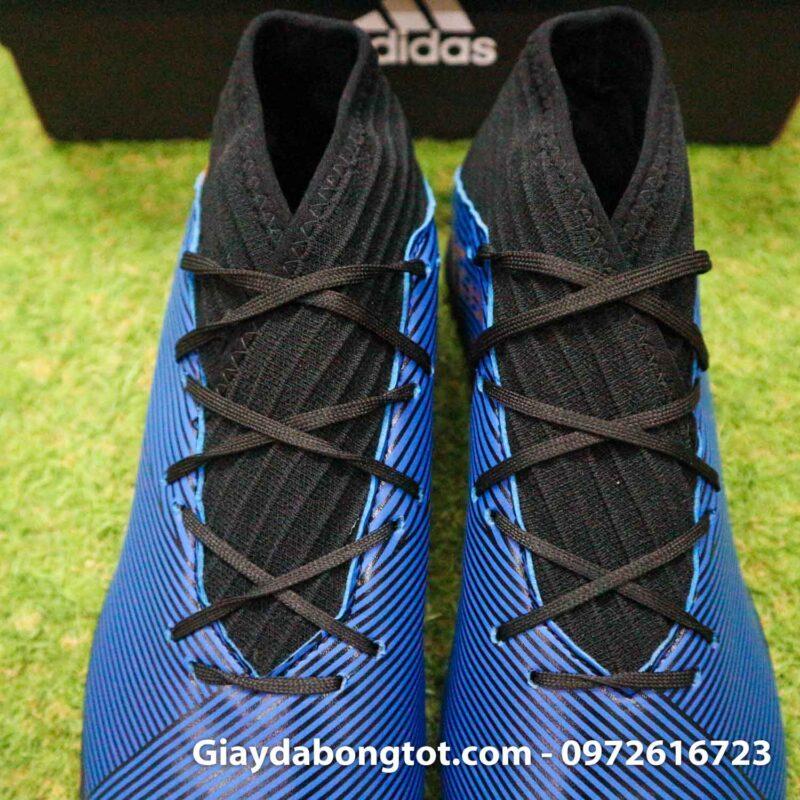 Giay Adidas Nemeziz 19.3 TF xanh dam vach vang co cao (9)