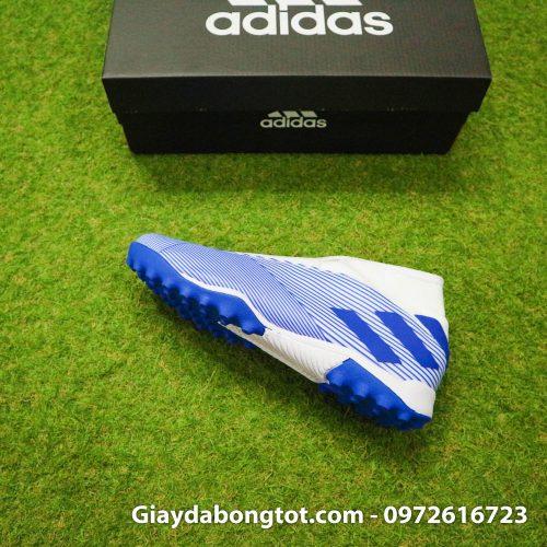 Giay Adidas Nemeziz khong day 19.3 TF trang soc xanh (11)