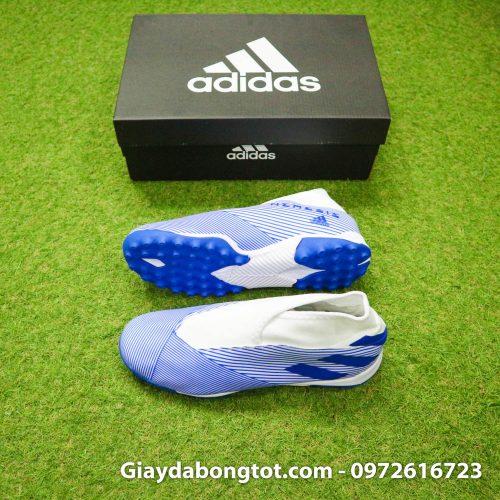 Giay Adidas Nemeziz khong day 19.3 TF trang soc xanh (2)