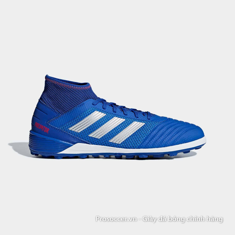 Adidas Predator 19.3 TF xanh dương vạch bạc bản xịn giá 1tr1 VNĐ