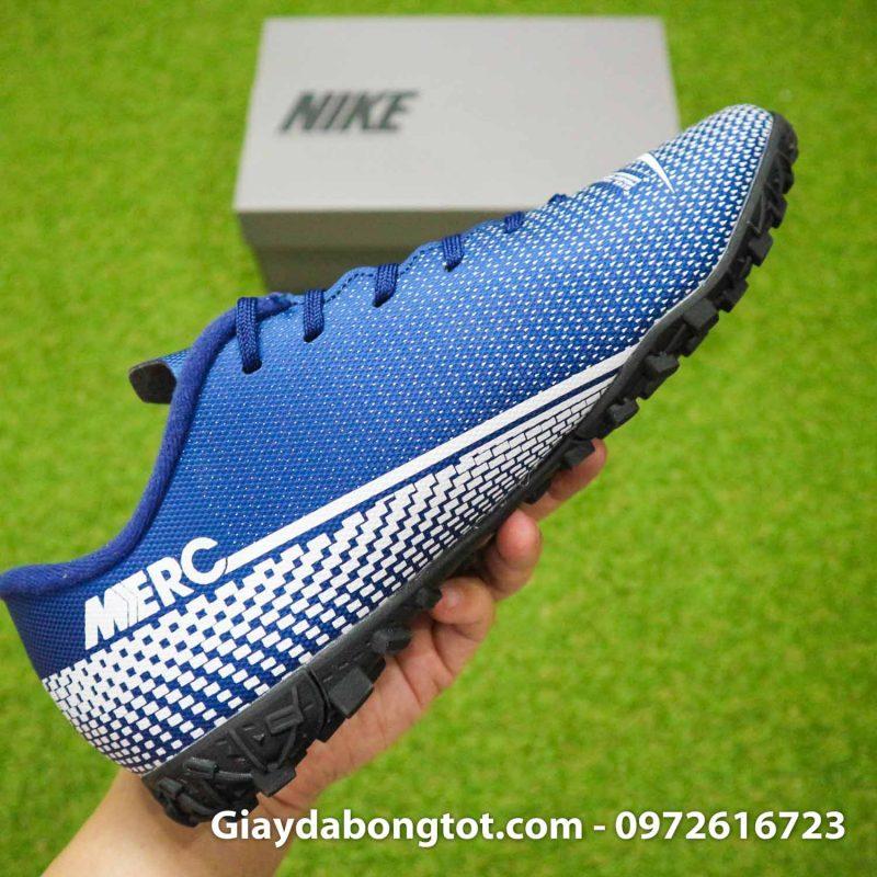 Giay Nike Mercurial Vapor 13 Academy TF xanh tim than (11)
