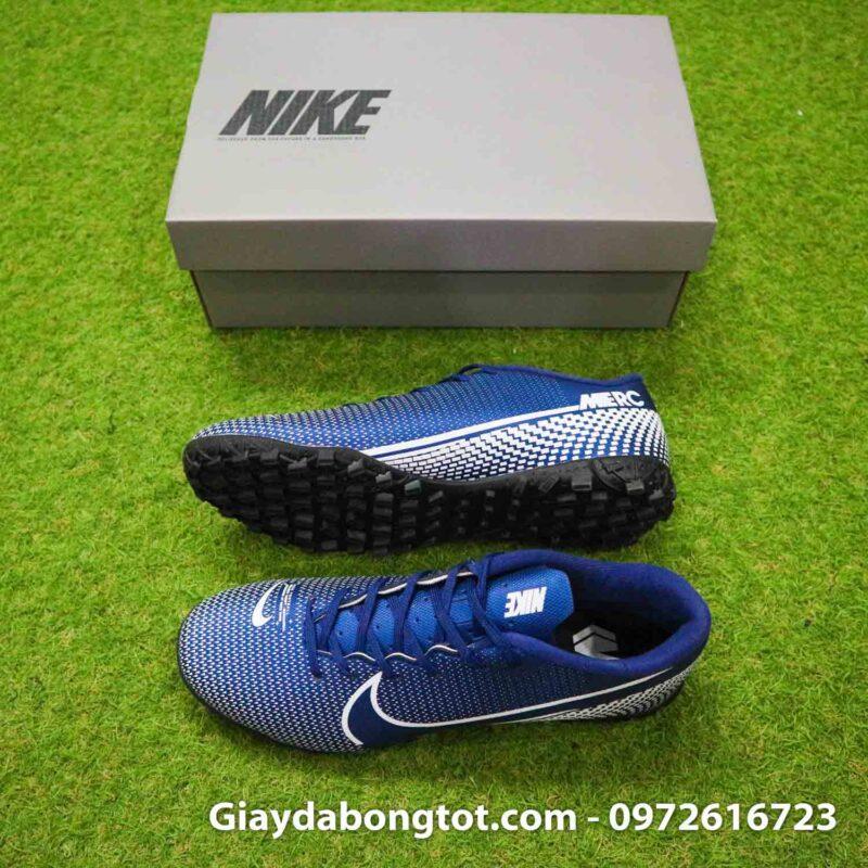 Giay Nike Mercurial Vapor 13 Academy TF xanh tim than (2)
