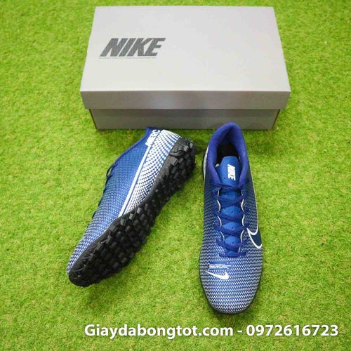 Giay Nike Mercurial Vapor 13 Academy TF xanh tim than (4)