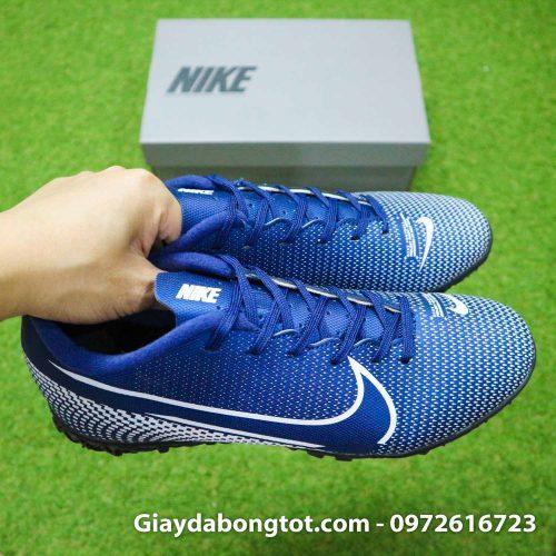 Giay Nike Mercurial Vapor 13 Academy TF xanh tim than (8)