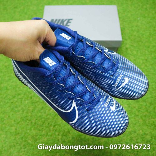 Giay Nike Mercurial Vapor 13 Academy TF xanh tim than (9)
