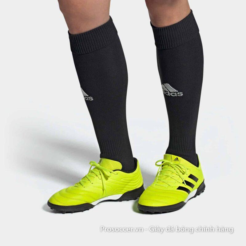 Giay da bong Adidas Copa 19.3 TF mau vang chuoi (4)