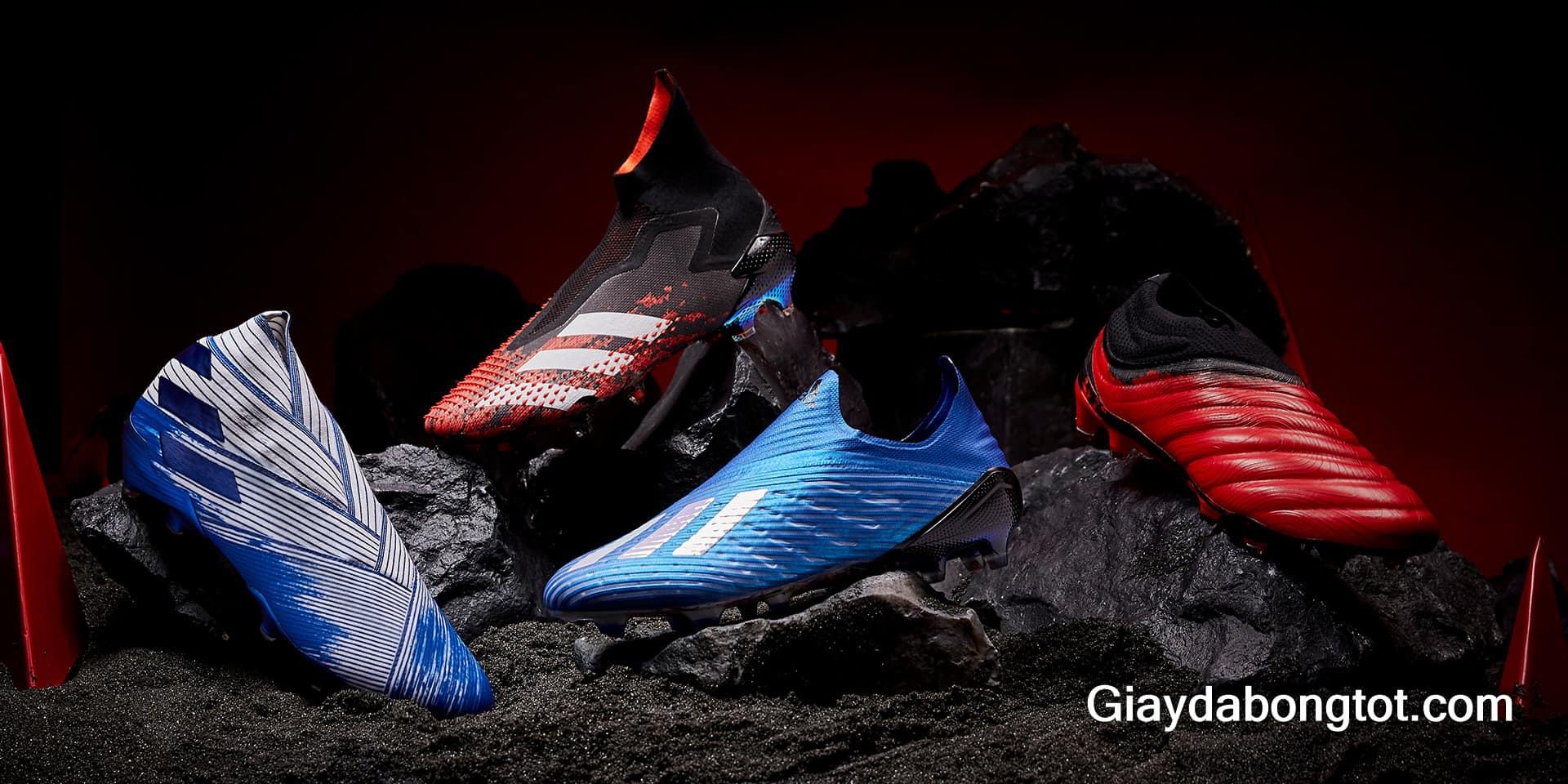 Có 4 dòng giày đá bóng Adidas đang được sản xuất và phát triển ở thời điểm hiện tại