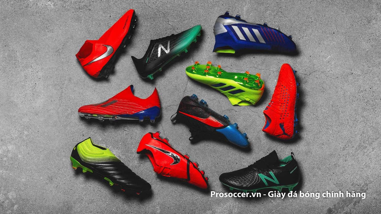 Giày đá bóng thường được sản xuất với 3 loại da chính là da thật, da nhân tạo synthetic và da vải
