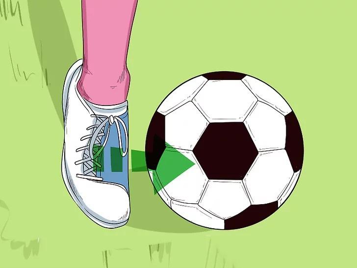 Chạm bóng ở phần cứng nhất ở bàn chân và tâm của quả bóng