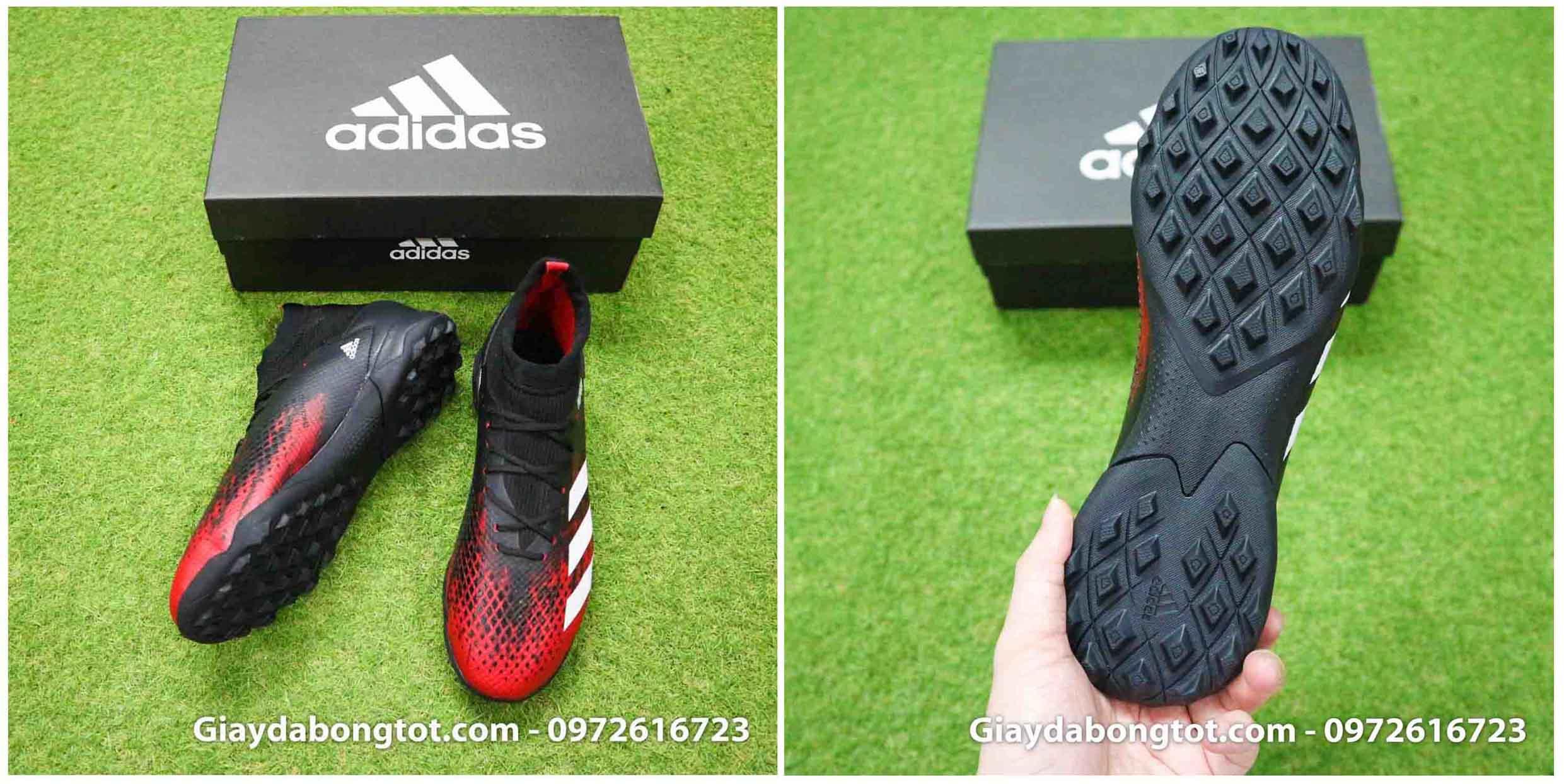 Giày đá banh sân cỏ nhân tạo Adidas cổ cao cũng rất đẹp mắt