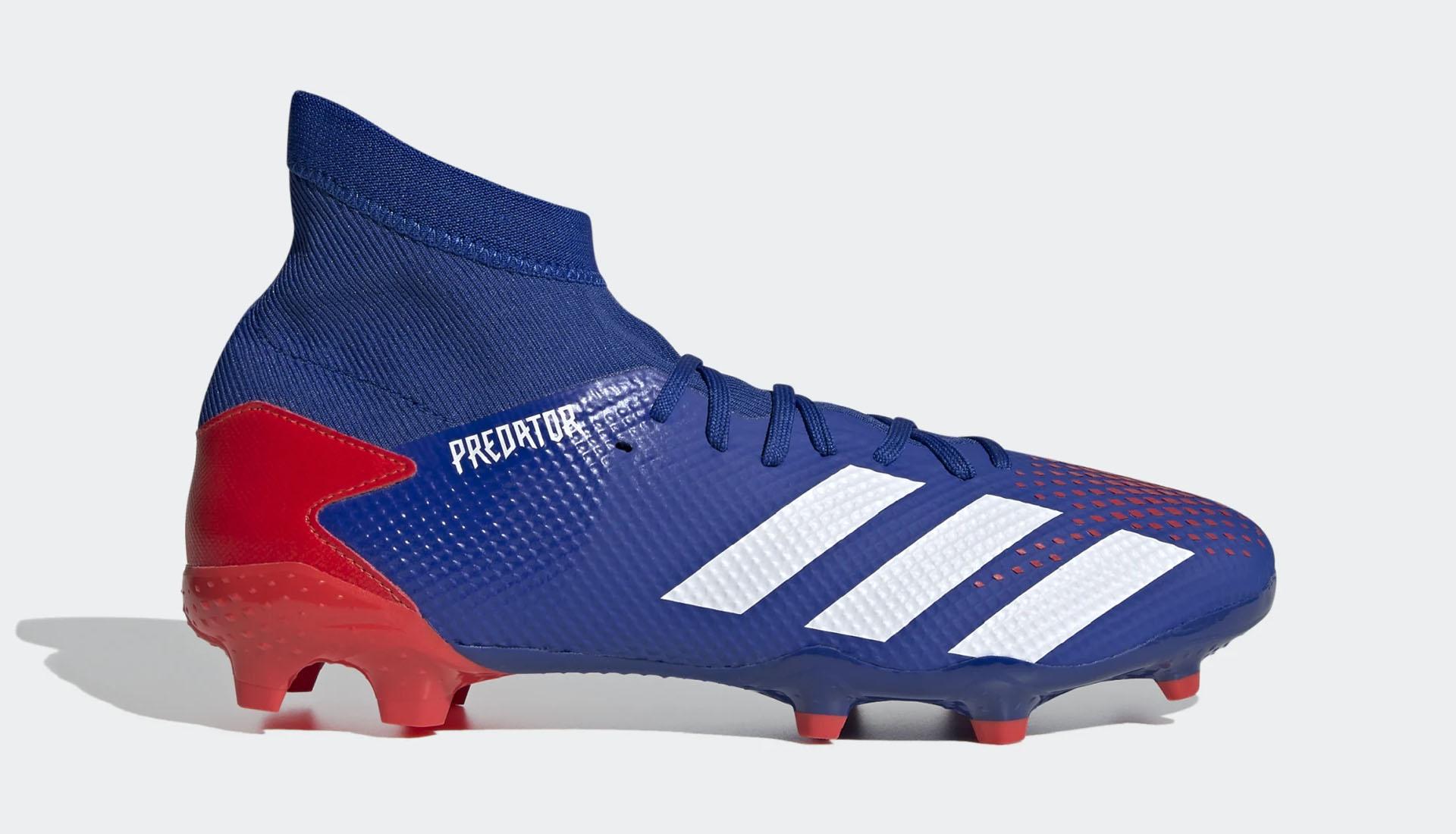 Phiên bản giày Adidas Predator 20.3 FG có dây màu xanh dương