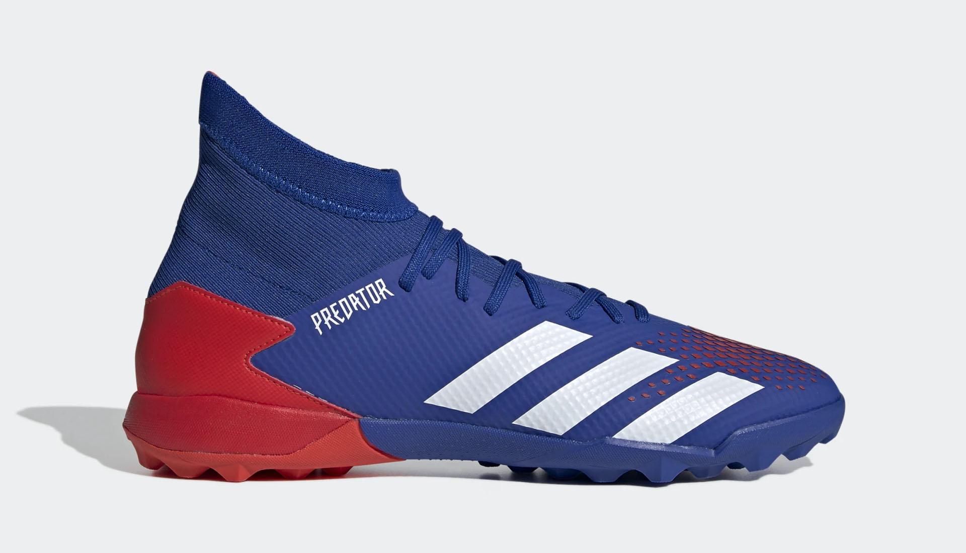 Phiên bản giày sân cỏ nhân tạo Adidas Predator 20.3 TF có dây màu xanh dương
