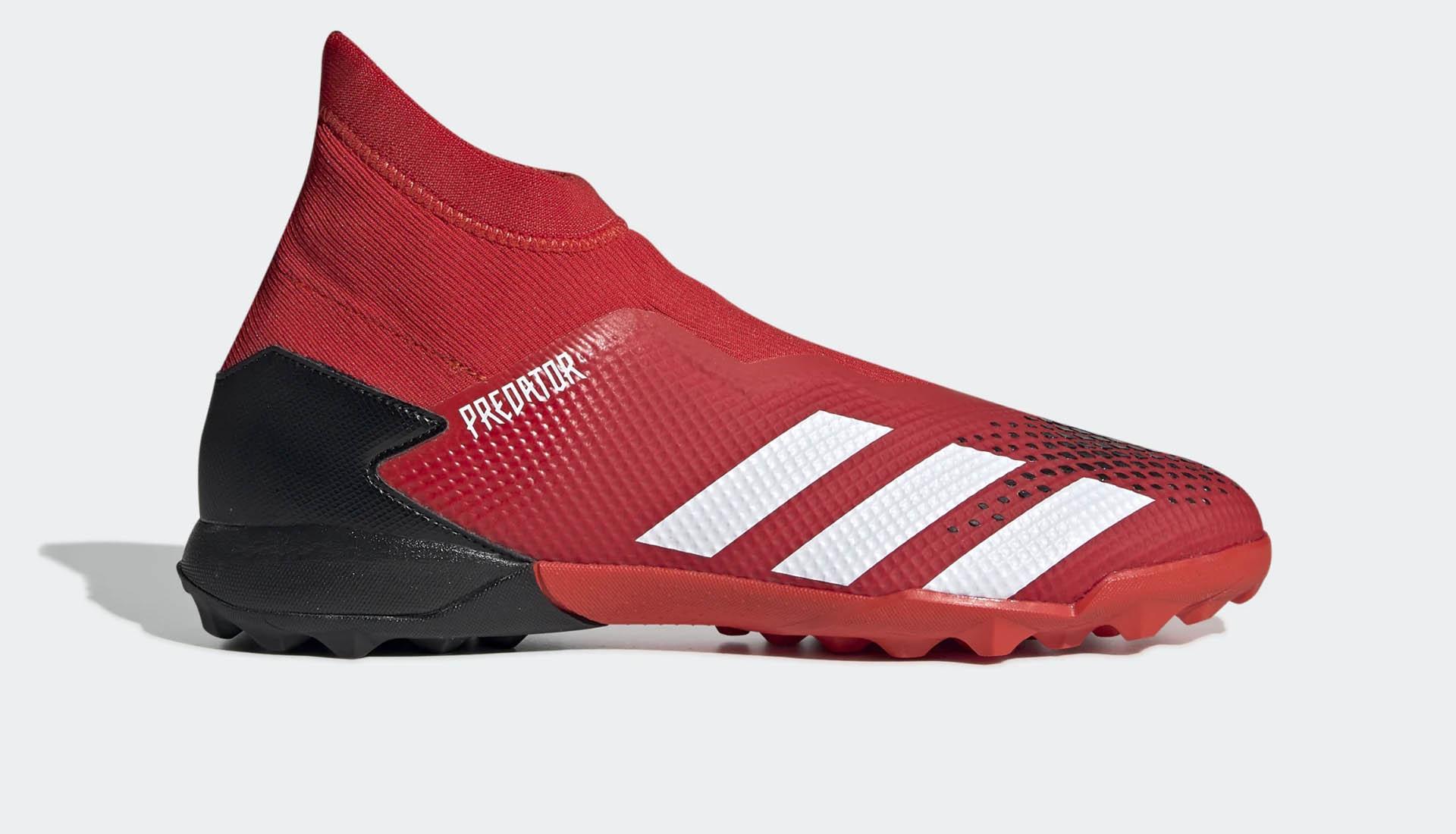 Phiên bản Adidas Predator 20.3 TF Laceless không dây màu đỏ
