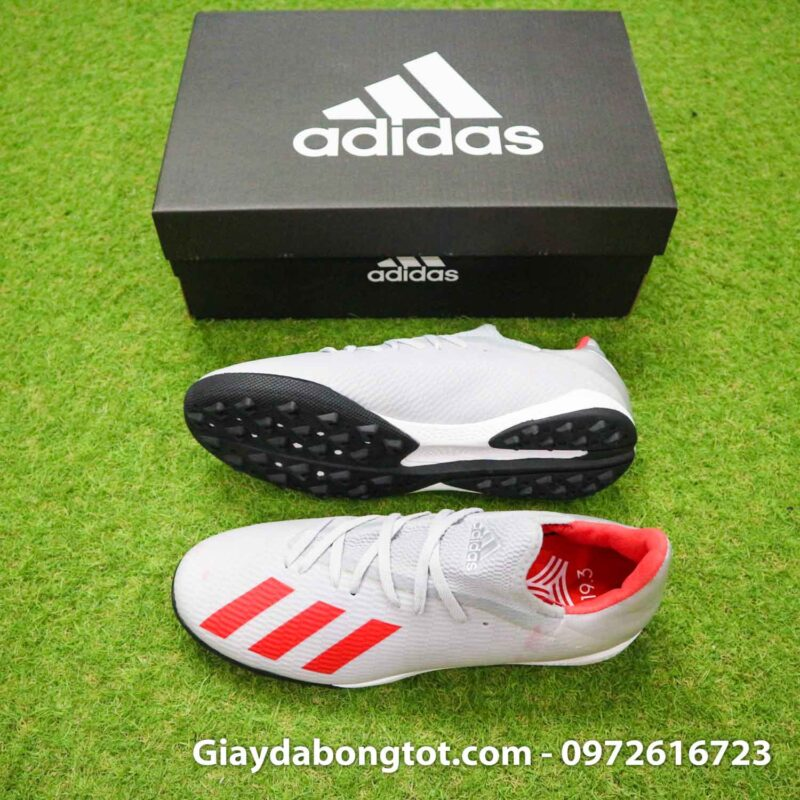 Giay Adidas X19.3 TF xam vach do SF (2)