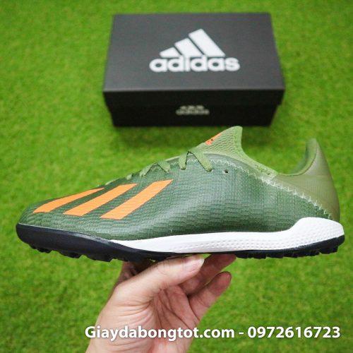 Giay Adidas X19.3 TF xanh reu vach cam SF (10)
