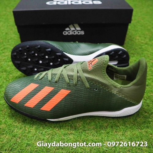 Giay Adidas X19.3 TF xanh reu vach cam SF (3)
