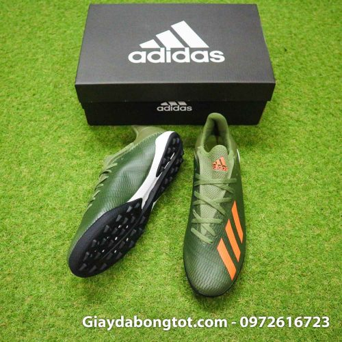 Giay Adidas X19.3 TF xanh reu vach cam SF (5)