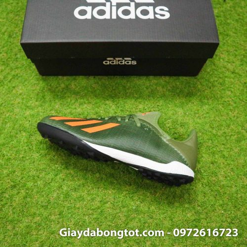 Giay Adidas X19.3 TF xanh reu vach cam SF (8)