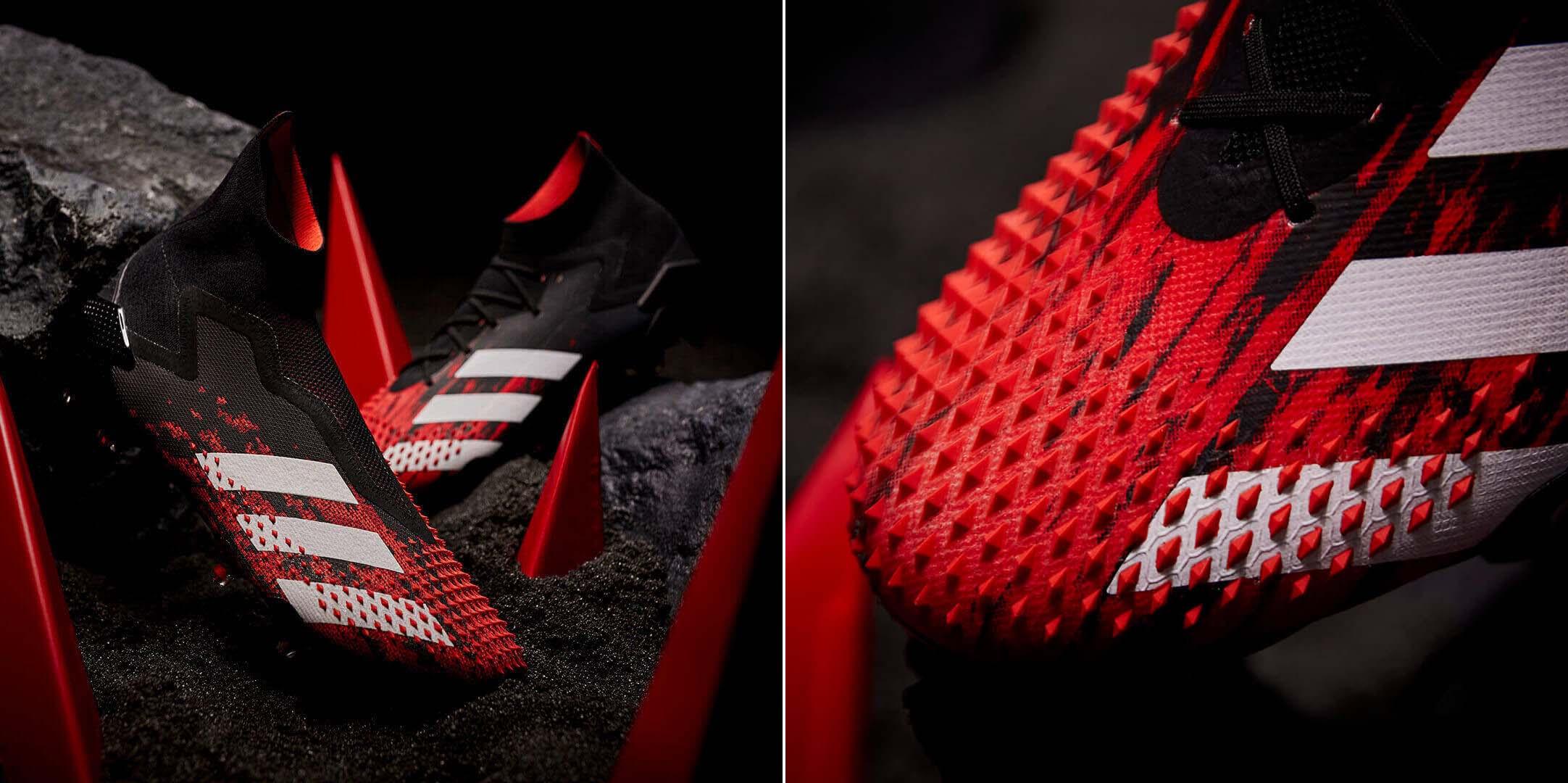 Giày Adidas Predator 20+ không dây và Adidas Predator 20.1 bản cổ cao với lớp da gai nhọn Demon Skin