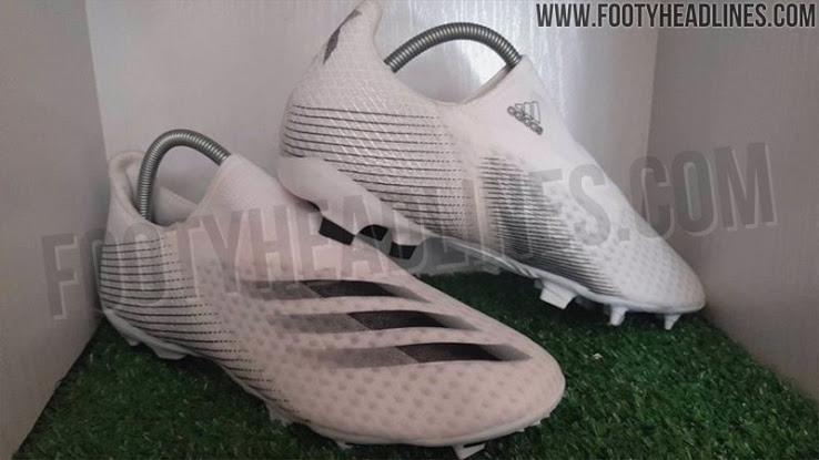 Phiên bản giày đá bóng không dây Adidas X20.3 Laceless màu trắng