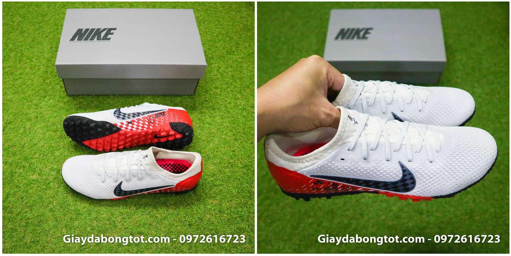 Giày bóng đá Nike Mercurial Vapor 13 Pro TF Neymar trắng đỏ đen
