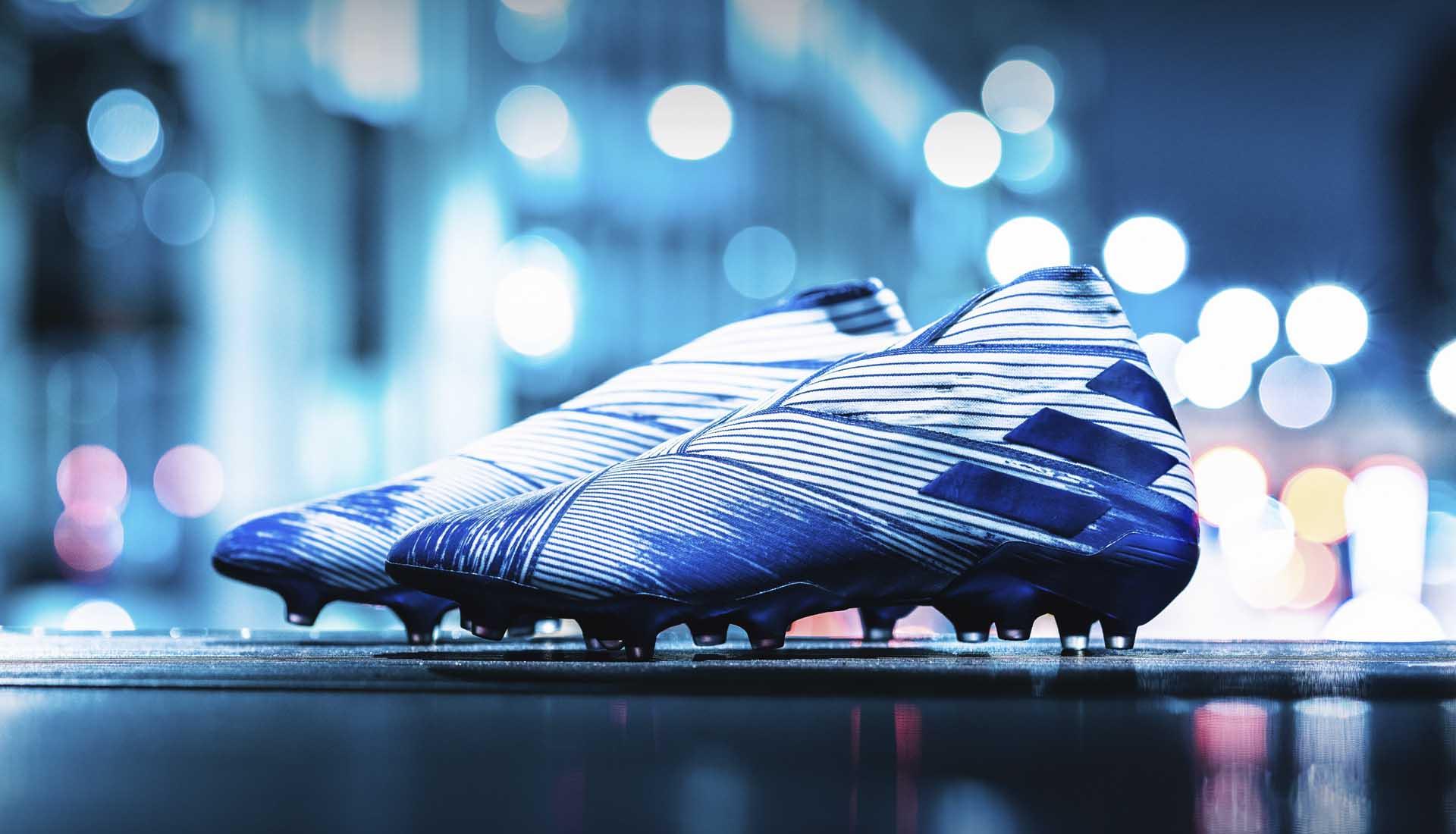 Giày bóng đá Adidas Nemeziz 19+ với thiết kế không dây đẹp mắt và mới lạ