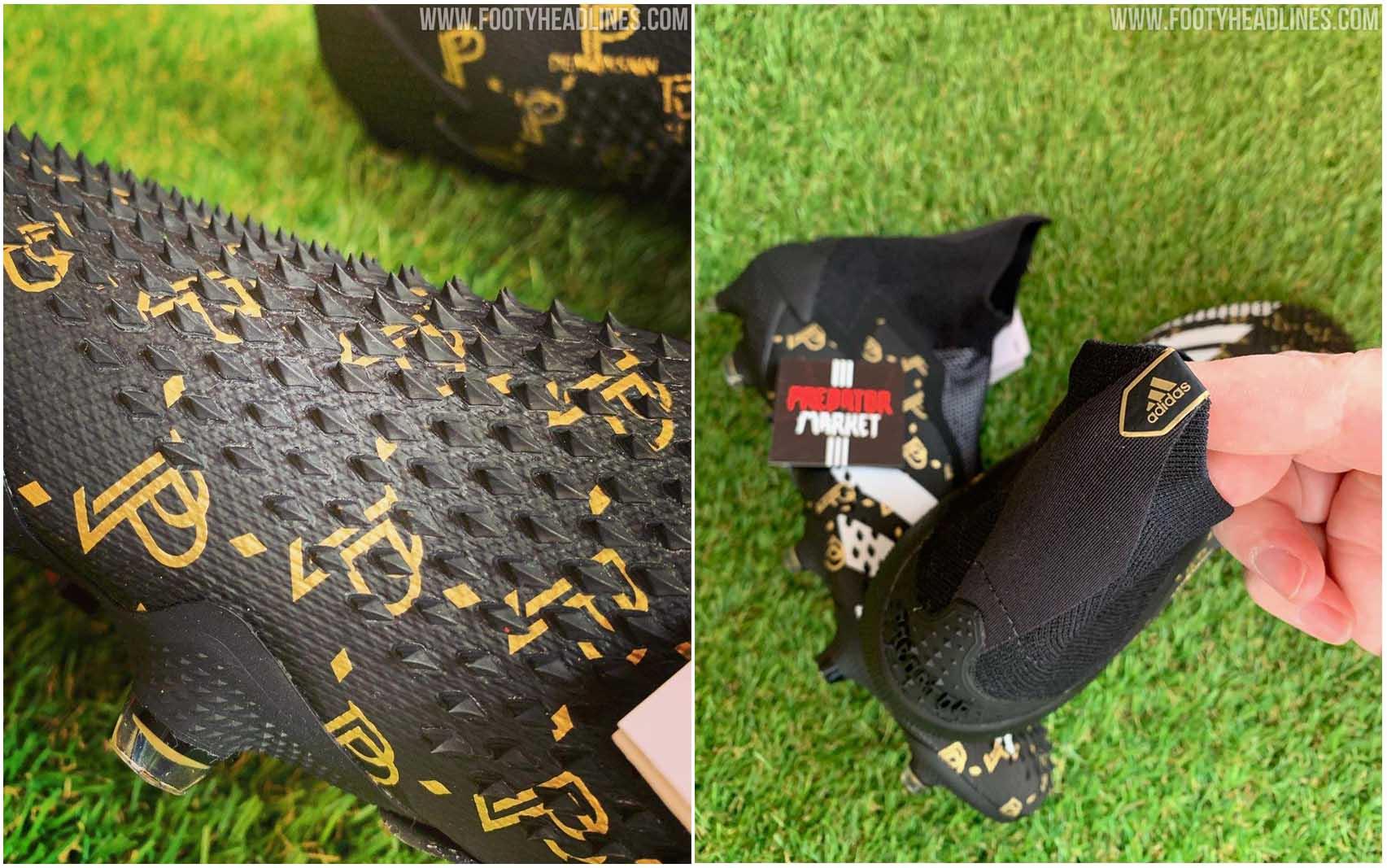 Giày bóng đá Adidas Predator 20+ của Pogba với các gai nhọn trên bề mặt