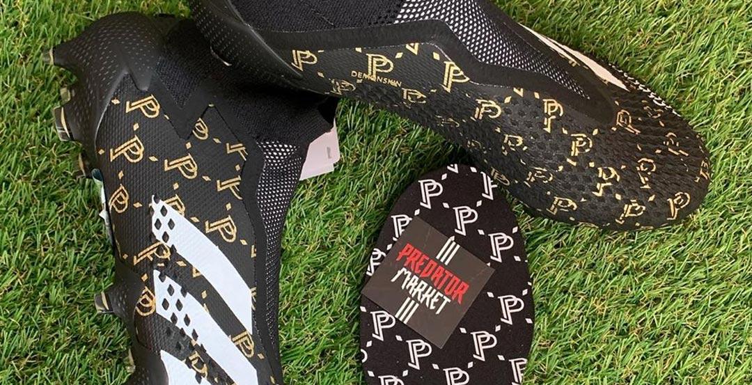 Vẻ đẹp của giày đá bóng Adidas Predator 20+ Pogba Season 7 màu đen trắng