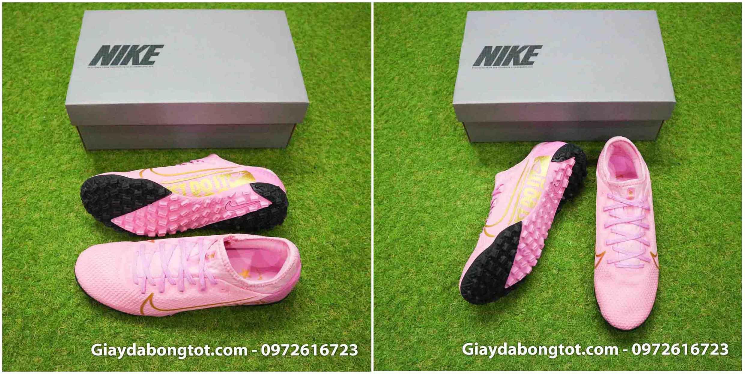 Giày đá banh sân cỏ nhân tạo Nike màu hồng cực kỳ cá tính
