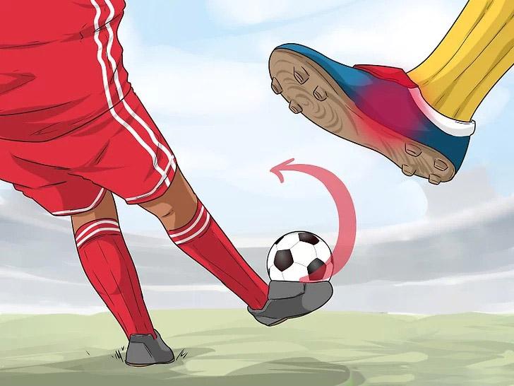 Thực hiện chạm bóng bằng má trong và vị trí tiếp xúc bóng ở rìa quả bóng