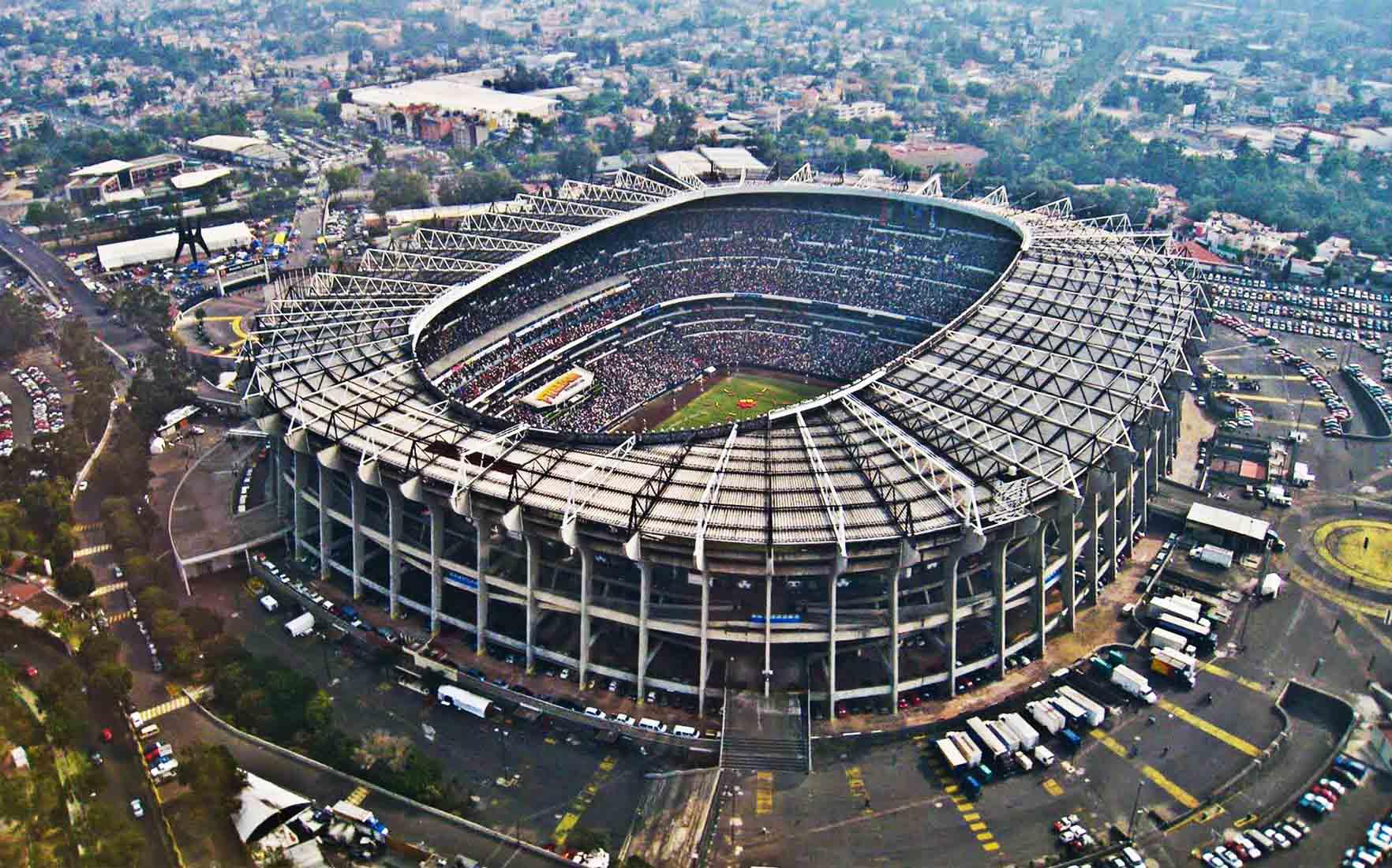 Sân bóng đá Estadio Azteca của Mexico là một trong top 10 sân bóng đá lớn nhất thế giới