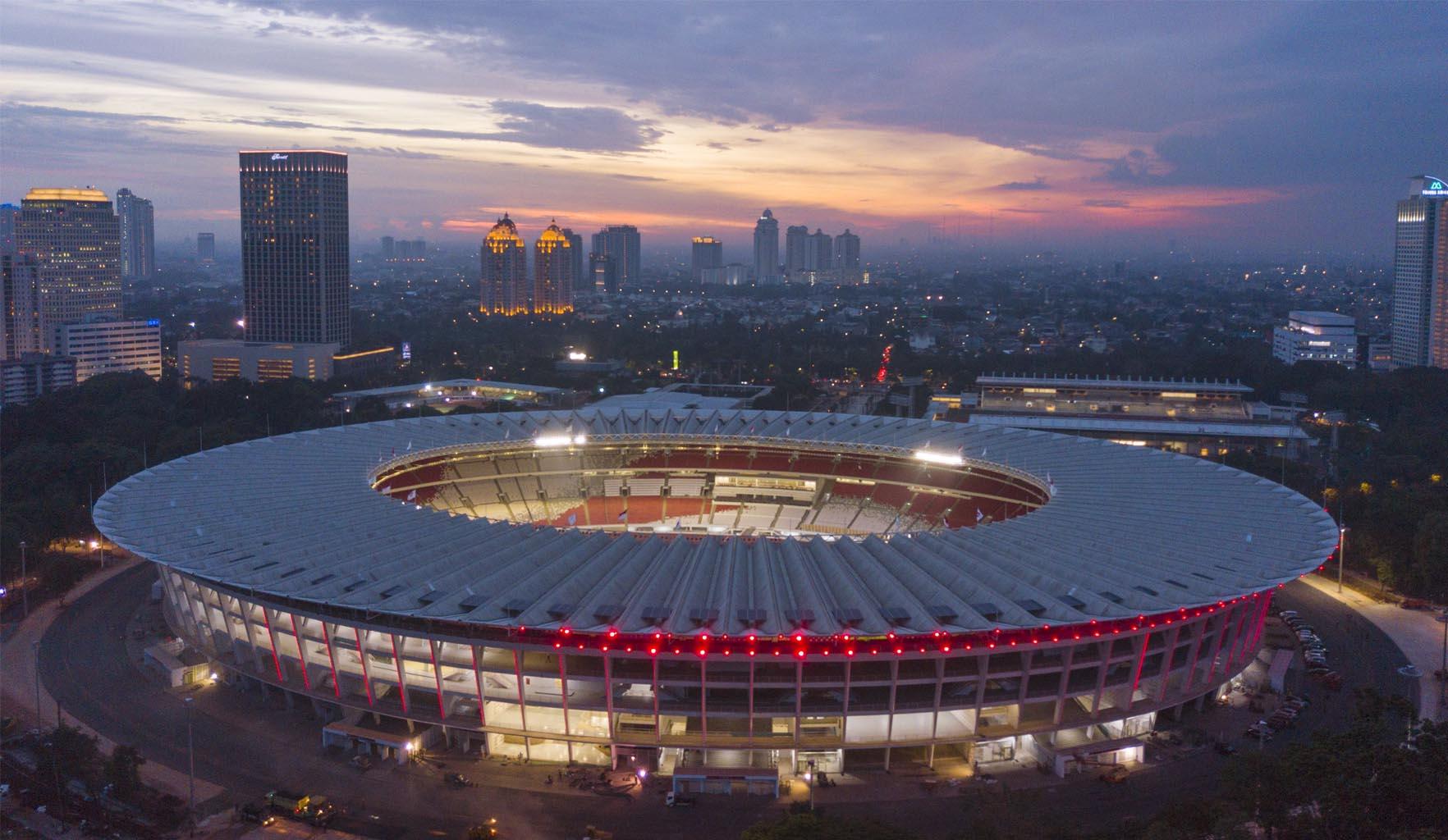 Sân bóng Gelora Bung Karno của Indonesia là một trong top 10 sân bóng đá lớn nhất thế giới