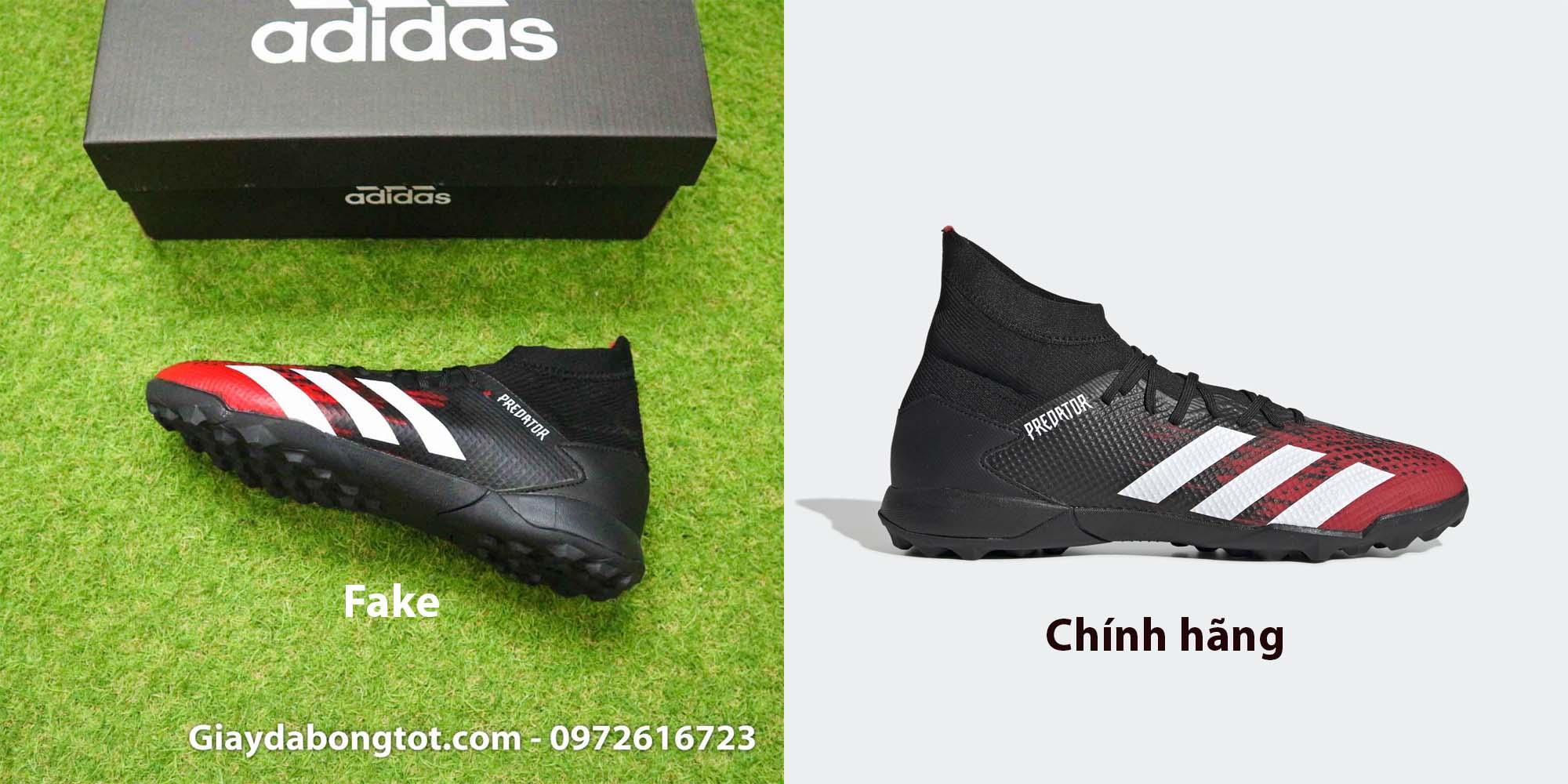 Tuy nhiên đường keo ở viền giày Adidas Predator 20.3 Fake không sắc nét và đẹp như bản chính hãng