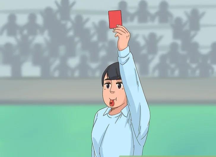 Trọng tài rút thẻ đỏ để truất quyền thi đấu của cầu thủ vì phạm lỗi nặng