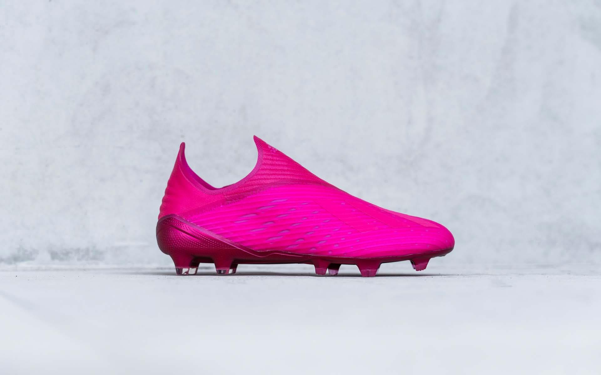 Giày bóng đá Adidas X 19+ Locality Pack màu hồng 2020