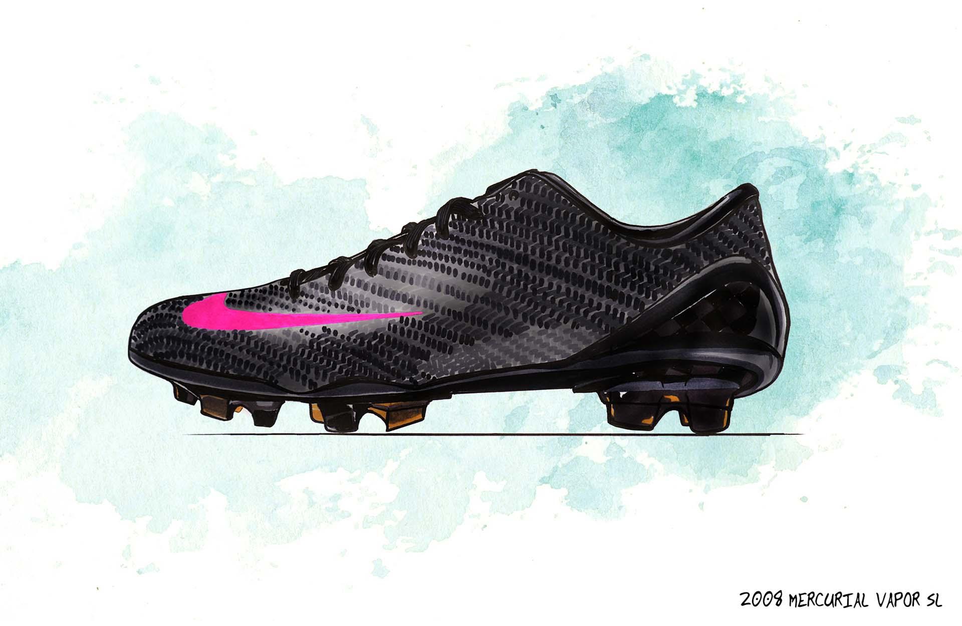 Nike giới thiệu giày bóng đá siêu nhẹ làm bằng sợi carbon tại chung kết cúp C1 2007-2008