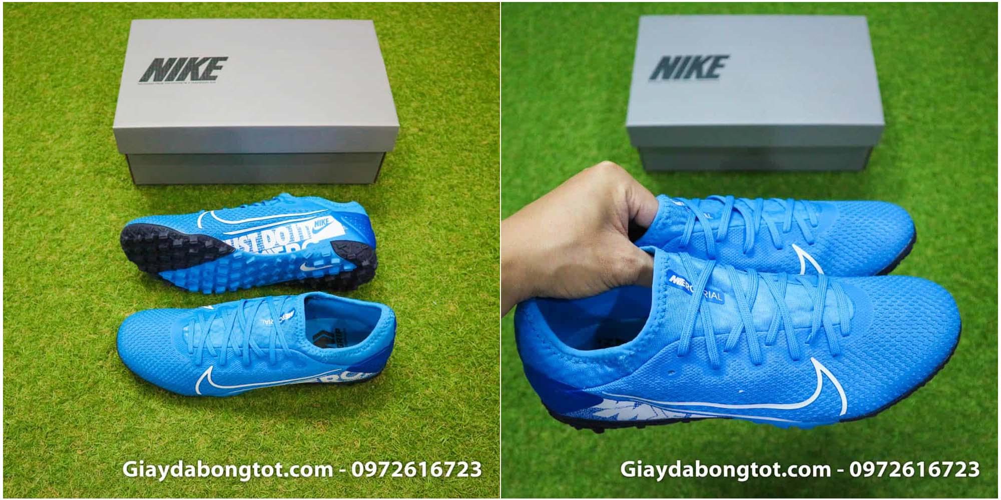 Nike Mercurial Vapor 13 Pro TF có lớp da vải chống nước tốt, độ bền cao